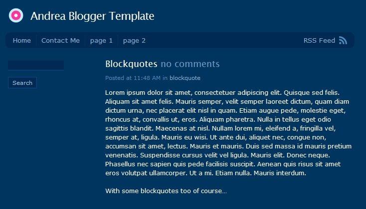 andrea-blogger-template