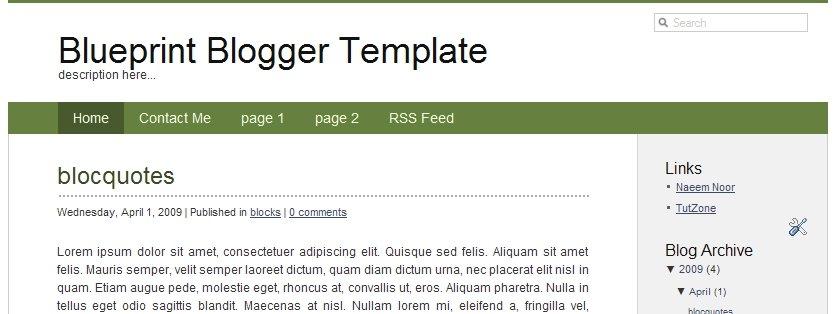 blueprint-blogger-template