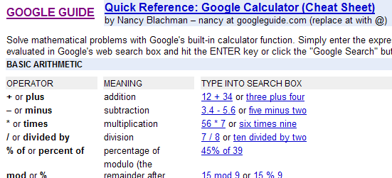 google-guide-quick-reference-google-calculator-cheat-sheet
