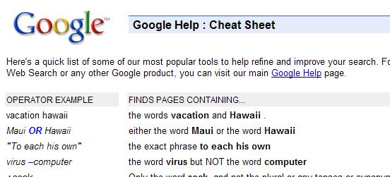 google-help-cheat-sheet