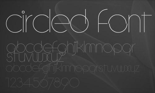 circleD-font