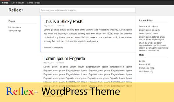 Google Plus WordPress Theme - CSSReflex