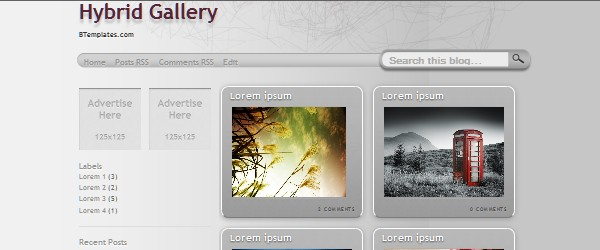 13 Magnificent Free Blogger Gallery based Templates-hybridgallery