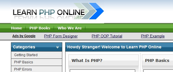 how to learn php for beginners