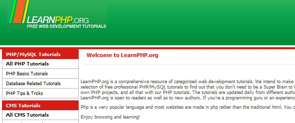Best free PHP learning resources for beginners-learnphporg