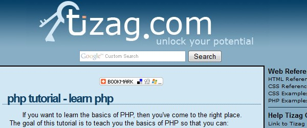 Best free PHP learning resources for beginners-tizag
