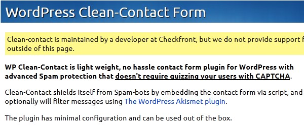 Free-Contact-Form-Plugins-for-WordPress-wpcleancontact