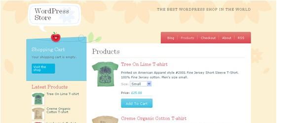Free WordPress ECommerce Themes-craftycart