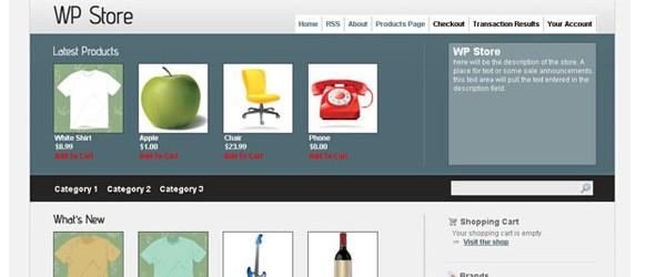 Free WordPress ECommerce Themes-wpstore