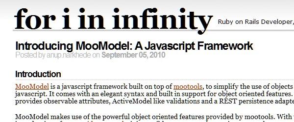 Useful Frameworks for Web and Mobile App Developers-moomodel