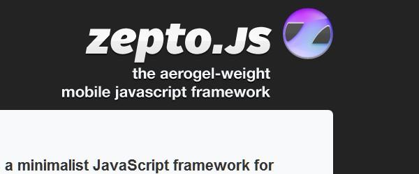 Useful Frameworks for Web and Mobile App Developers-zeptojs