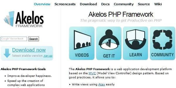 10+Popular PHP Framework-akelos