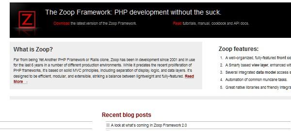 10+Popular PHP Framework-zoop