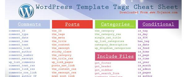 Collection-of-wordpress-cheat-sheets-tagsheets