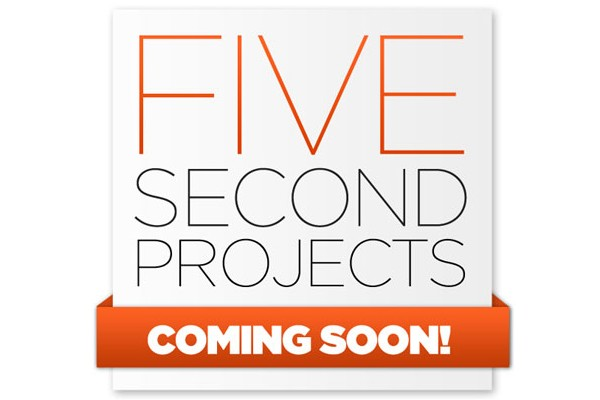 Creative Coming Soon Pages for Inspiration-fivesecondproject