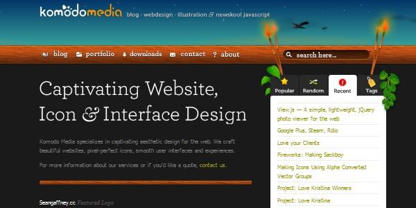 Dark Colored Websites-komodomedia