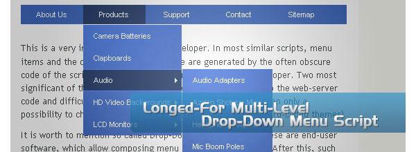 Free-CSS-&-jQuery-drop-down-menus-longedmultilevel
