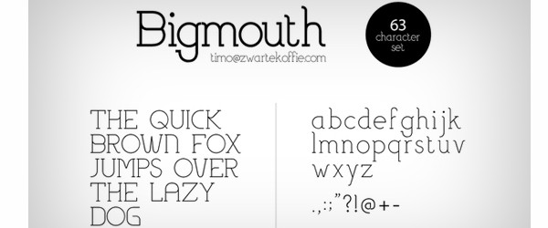 Free Fonts for Use in Your Next Web Design Project-bigmouth