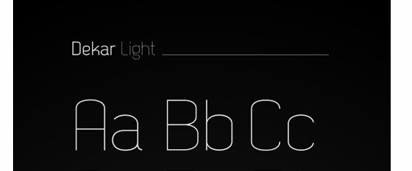 Free Fonts for Use in Your Next Web Design Project-dekar