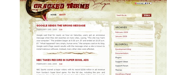 Free Grunge Style WordPress Themes-cracked