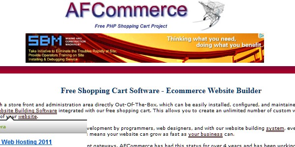 Open Source (Free) eCommerce Platforms-afcommerce