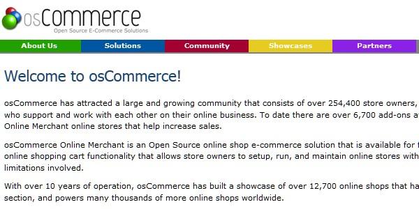 Open Source (Free) eCommerce Platforms-oscommerce