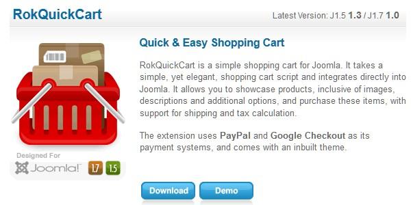 Open Source (Free) eCommerce Platforms-rokquickcart
