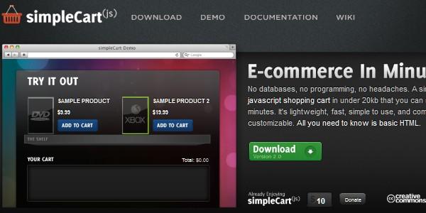 Open Source (Free) eCommerce Platforms-simplecart
