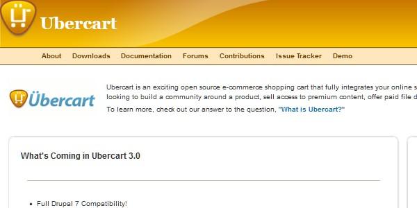 Open Source (Free) eCommerce Platforms-ubercart