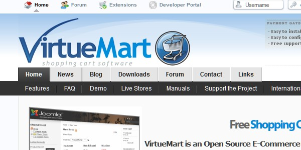 Open Source (Free) eCommerce Platforms-virtuemart