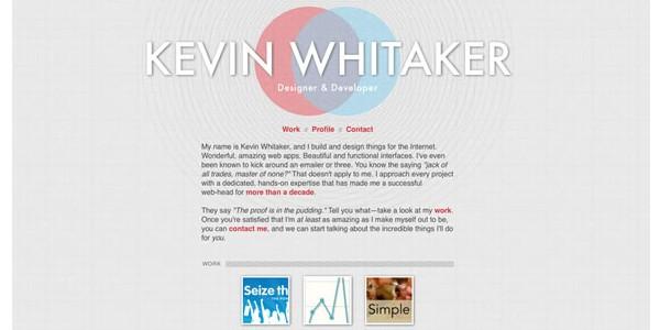 Single Page Websites-kevinwhitaker
