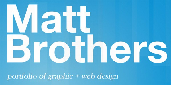 Single Page Websites-mattbrothers