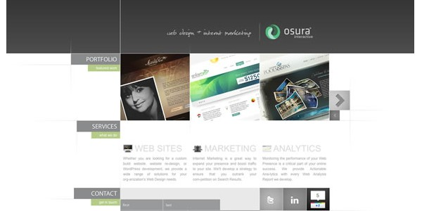 Single Page Websites-oscura
