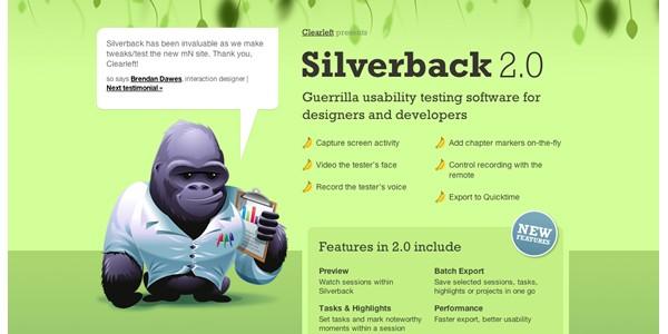 Single Page Websites-silverback