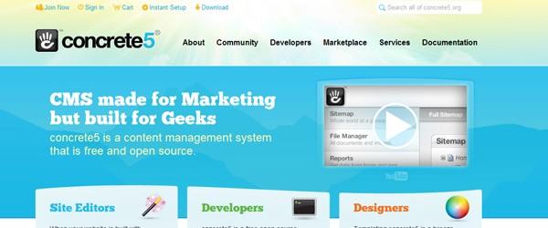 Top 15  Content Management systems (CMS)-concrete5