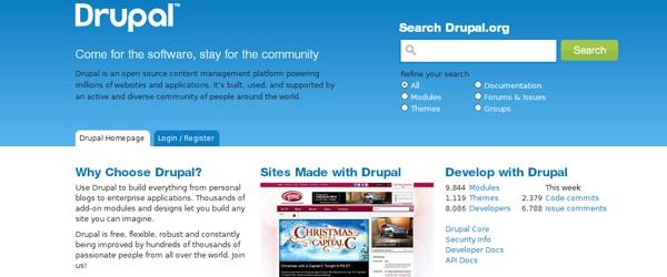 Top 15  Content Management systems (CMS)-drupal