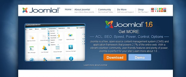 Top 15  Content Management systems (CMS)-joomla