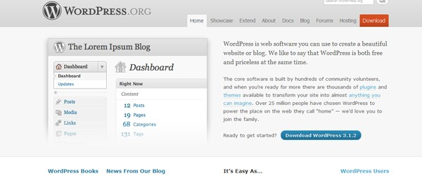 Top 15  Content Management systems (CMS)-wordpress