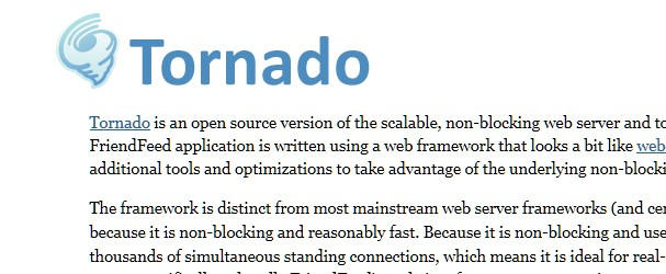 Top Web Server tools Free for Windows, Linux and Mac-tornado