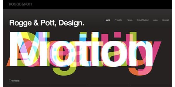 Web Design Inspiration Typography-rogge&pot