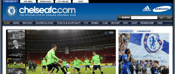 football club websites for inspiration-chelsea