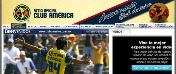 football club websites for inspiration-clubamerica