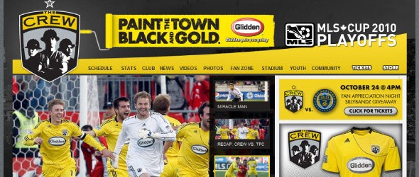 football club websites for inspiration-crewfc