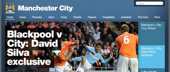 football club websites for inspiration-manchestercity
