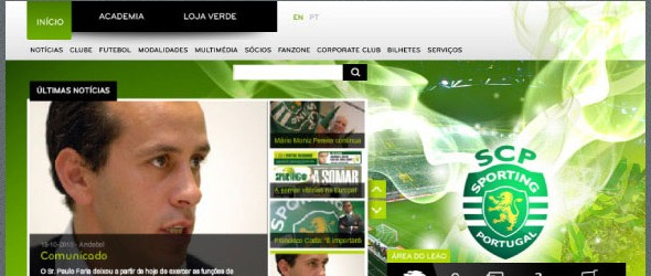 football club websites for inspiration-sportinglisbon