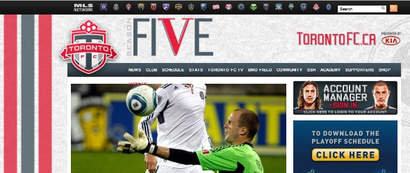 football club websites for inspiration-torontofc
