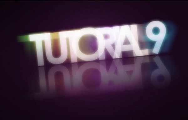 25 Text Effect Tutorials-colorfulglowing