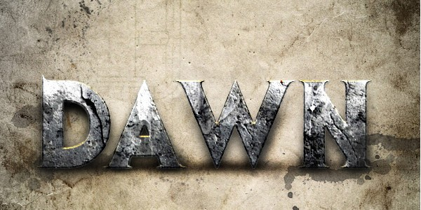 25 Text Effect Tutorials-dawnofwar