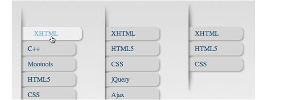 CSS3 Menu and Navigation Tutorials-verticlemenu