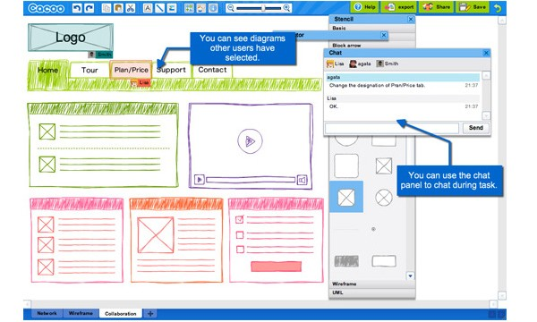 Excellent Tools for Creating Web Design Wireframes-cacoo